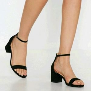 Shoes - Nastygal black ankle strap sandals